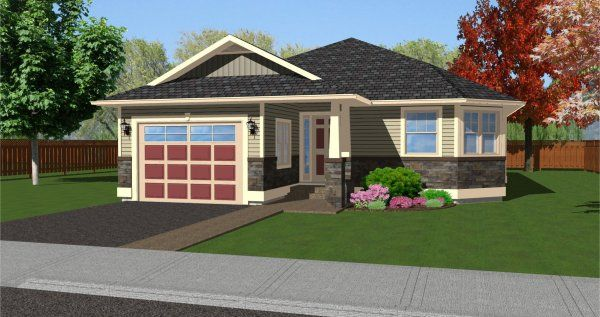 Cute Craftsman  This craftsman house plan features three bedrooms    Cute Craftsman  This craftsman house plan features three bedrooms  two bathrooms  and large