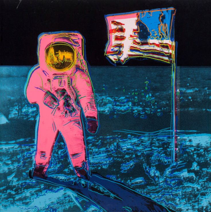 "Moonwalk, by Andy Warhol, 1987. Screenprint in colour on Lenox Museum Board; 38 x 38"""