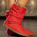 Bottes rouge femme taille 39