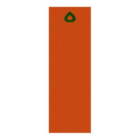 Aspen Leaf/Lotus Blossom Yoga Mat Orange/Green - click/tap to personalize and buy