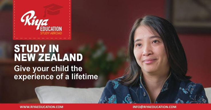Study in New Zealand!!! Give your child the experience of a life time. For more details on overseas education get in touch with Riya Education. Visit our website http://www.riyaeducation.com/