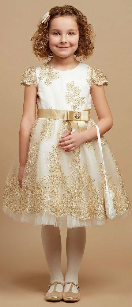 7db0e999a Gorgeous! ROMANO PRINCESS Ivory   Gold Lace Party Dress. Perfect ...