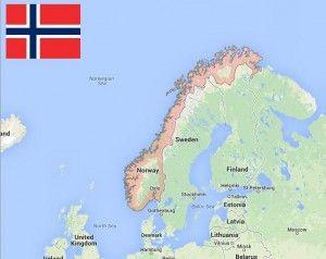 Peta Norwegia