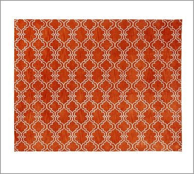 Scroll Tile Rug - Orange #potterybarn: Decor, Living Rooms, Barns Scrolls, Area Rugs, Tile Rugs, Orange Potterybarn, Families Rooms, Scrolls Tile, Pottery Barns