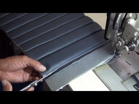 UPHOLSTERY BASICS- Blind-Stitches Foamed Channels-TUTORIAL - YouTube