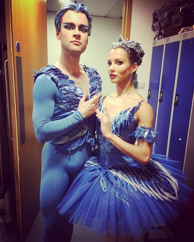 We gave it drama. And lots of blue eye shadow. Thank you @a_campbell21 for the flying lesson #openingnight #sleepingbeauty #bluebird #princessflorine #royalballet