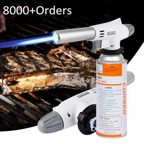 920 Metal Flame Gun Multi-Purpose Welding Gas Torch Lighter-Heating Ignition- Butane Lighter Camping Hiking