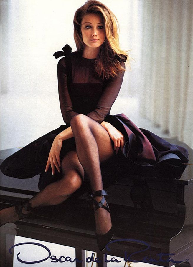 Early 90s Carla Bruni in Oscar de la Renta