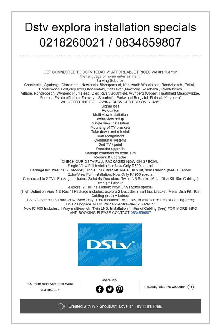 Http Dstv Installation Capetowncoza Call 0837691086 Type Smart Lnb Diagram Of Decoders Pinterest Cape Town And