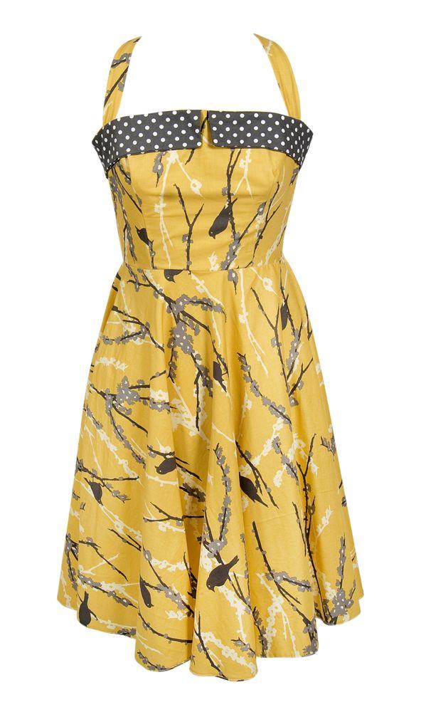 Halter neck vintage dress pattern