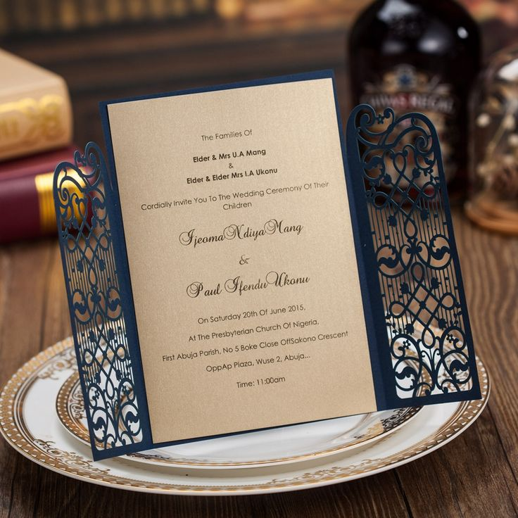 first line of wedding invitations%0A Cheap card swipe door lock  Buy Quality card micro directly from China card  retail Suppliers  luxurious elegant laser cutting Wedding Invitations card  blue