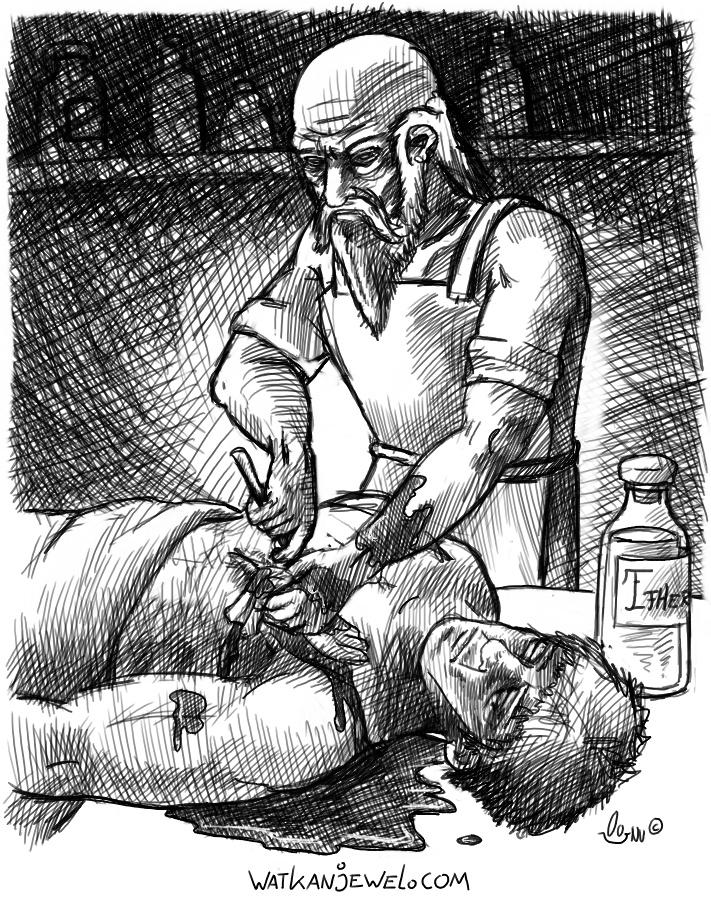 Chirurgijn, Barber surgeon watkanjewel.com