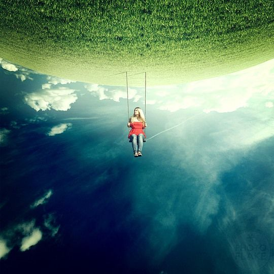 Photo Manipulations by Anja Stiegler Earth / Air