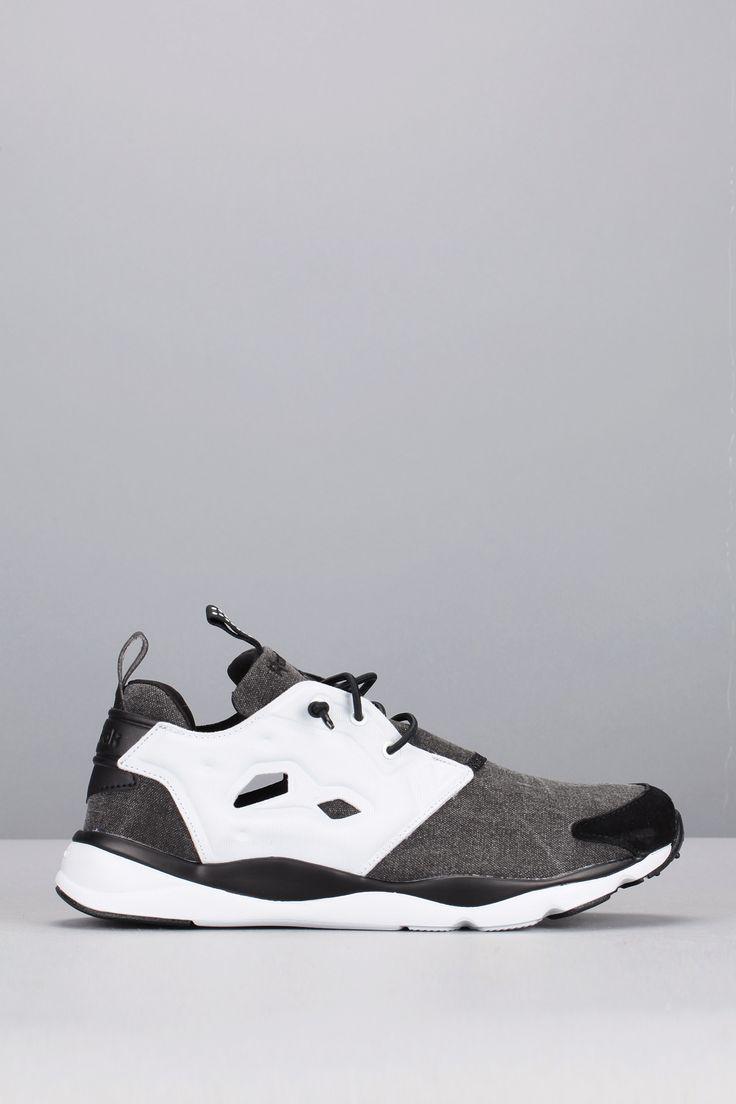 Baskets noires et blanches bi-matière Furylite Asymmetrical