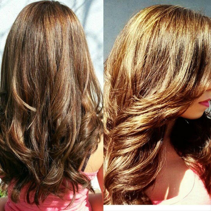 Aufhellen gefärbte haare Braun gefärbte