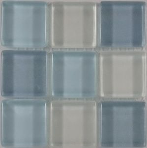 Product ID:OPUS24 Miki 1X1 Glass Blend Grey Mosaic #Profiletile