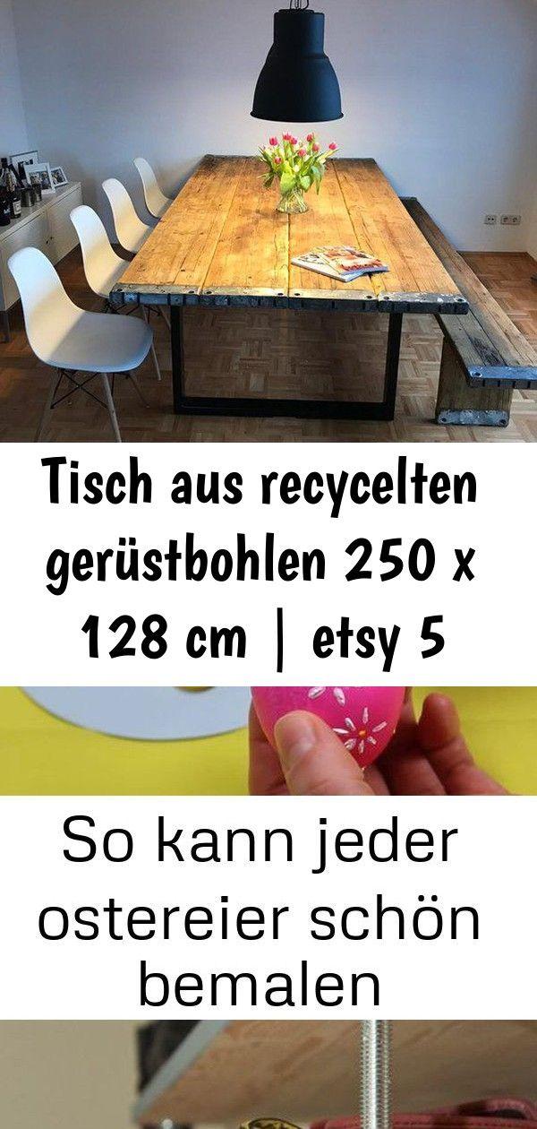Tisch Aus Recycelten Gerustbohlen 250 X 128 Cm Etsy So Kann