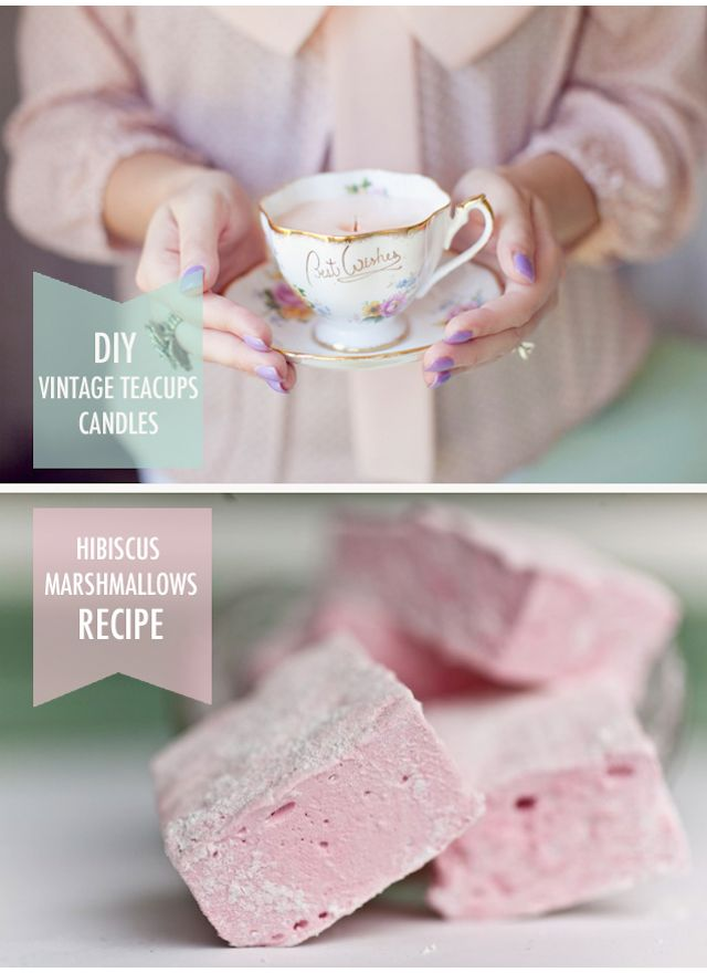 how to make tea cups with marshmallows