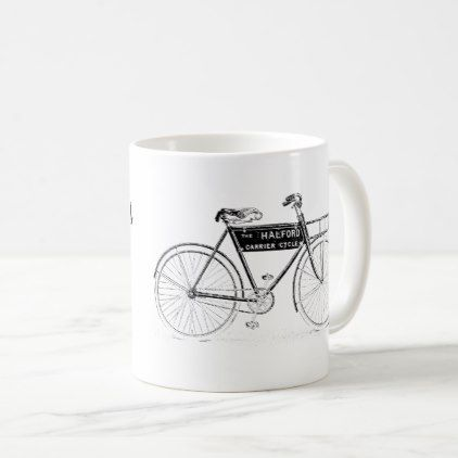 VINTAGE PUSH BIKE CYLCLE MUG - home gifts ideas decor special unique custom individual customized individualized