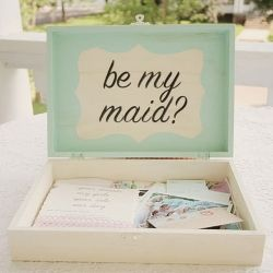 Pop the question to your bridesmaids with this DIY keepsake box.