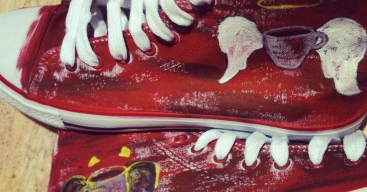 Παπούτσια με ζωγραφική στο χέρι