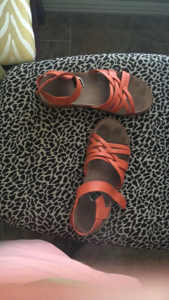 f0800df03361 Chaco Women s Fallon Leather Sandals Size 8 Flamingo orange (burnt sienna)   fashion  clothing  shoes  accessories  womensshoes  sandals (ebay link)