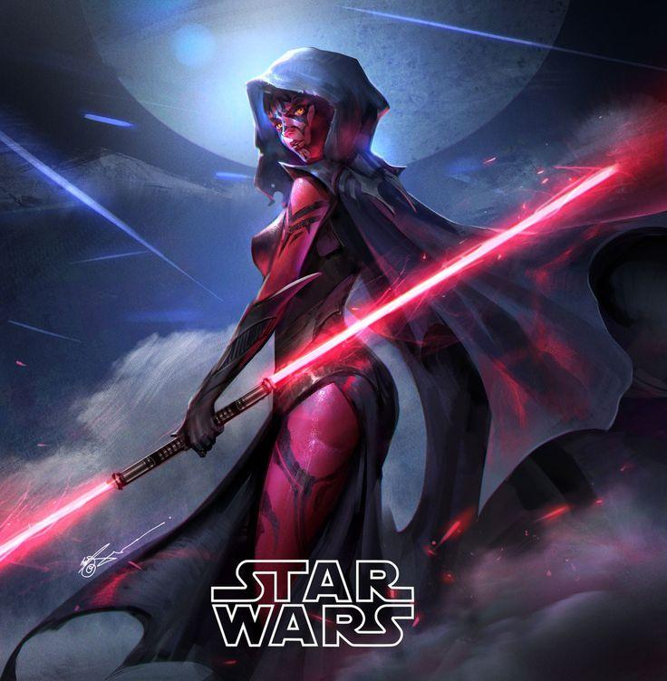 spassundspiele:  Daughter of Darth Maul – Star Wars fan art by Jeremy Chong