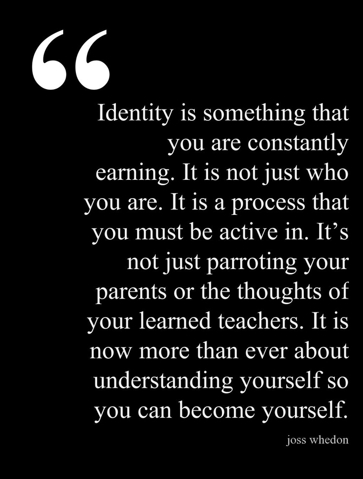 "From Joss Whedon's Commencement Address to Wesleyan // this is how I feel about my queerness. We persecute people for changing, as if a stable identity is the only right one, the one that ""proves"" we were Born This Way. What if we're all born with an infinite capacity to adapt, grow, and love, and life is a journey of exploring those possibilities? Would that be so bad?"