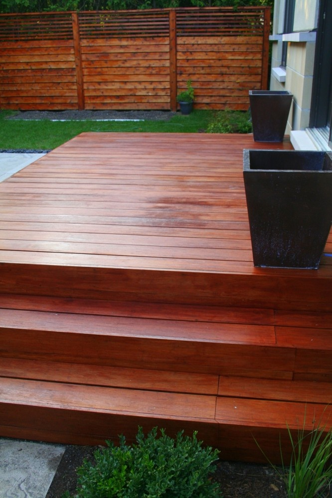 Deck - nice color, steps