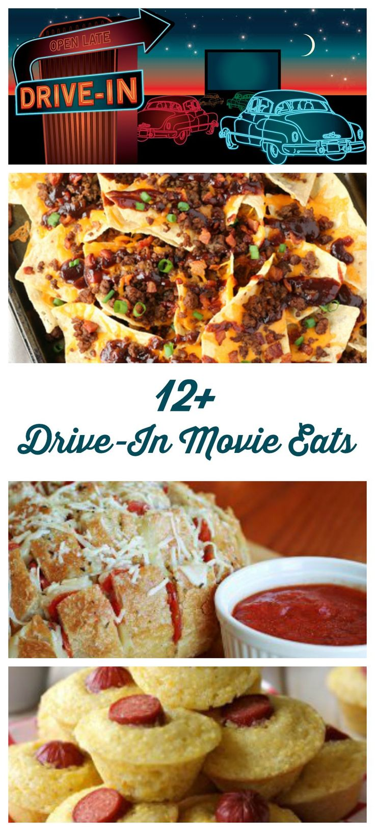 Love drive-in movies? These recipes are perfect for dinner or snacks at the drive in!
