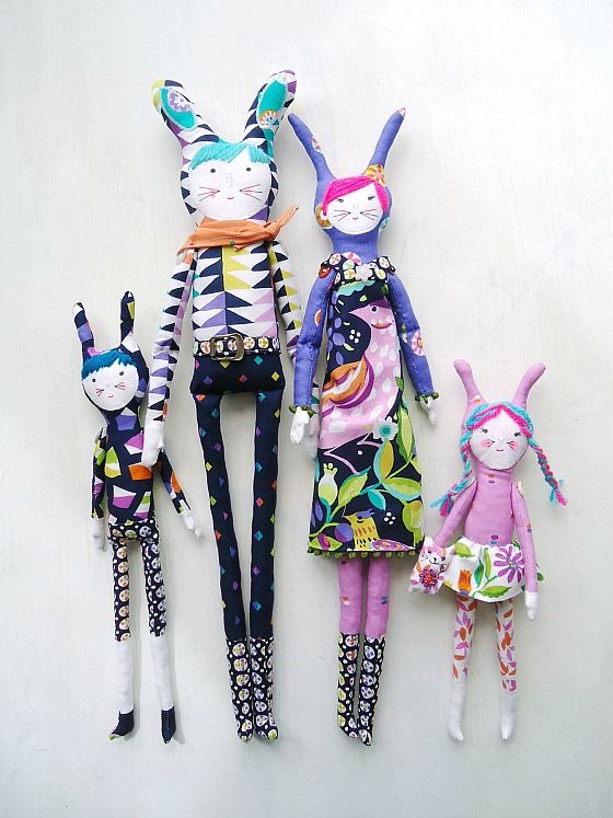 modflowers: jewel family creature dolls