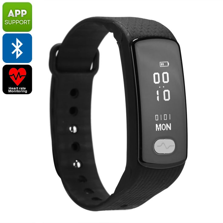 Bluetooth Fitness Tracker Bracelet - Pedometer, Heart Rate Monitor, Blood Pressure, Sleep Monitor, Calories Burned, App Support - Bluetooth Fitness Tracker Bracelet comes with a pedometer, heart rate monitor, sleep reminder, blood pressure sensor, calorie counter, and so much more.
