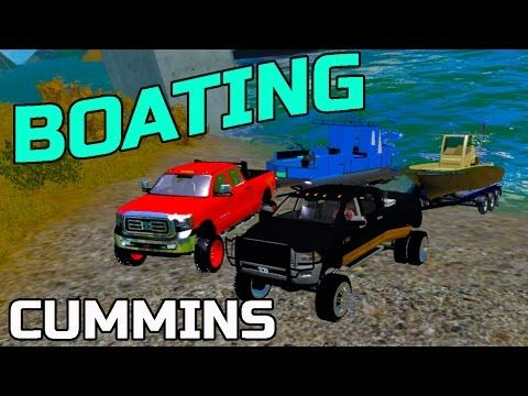 FARMING SIMULATOR 2015 | GOING CAMPING + BOATING + TOYS | HAULING - YouTube