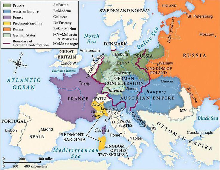 L'Europa dopo il congresso di Vienna