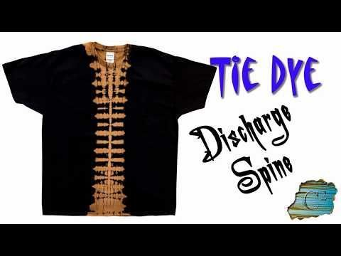 029df2475e22 2) How to Tie Dye  Discharge Spine  Bleach  - YouTube ...