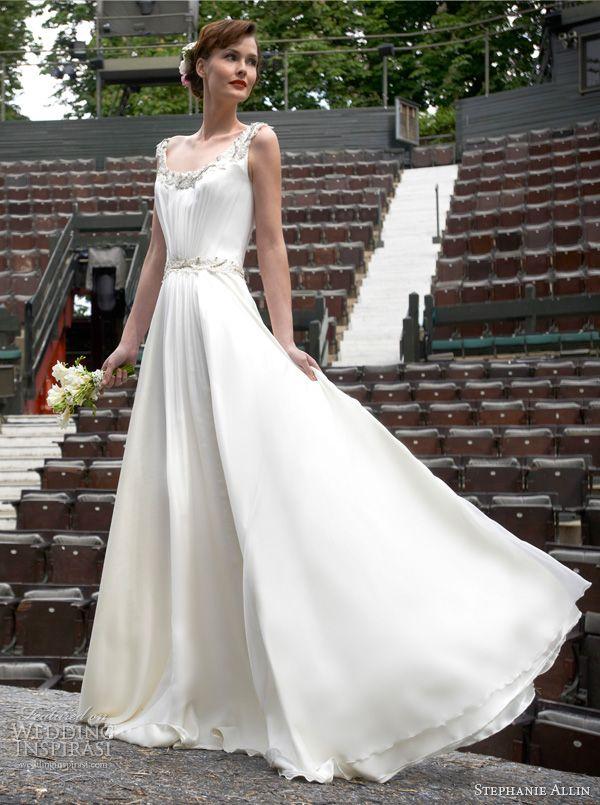stephanie allin wedding dresses 2014 mireille sleeveless gown straps
