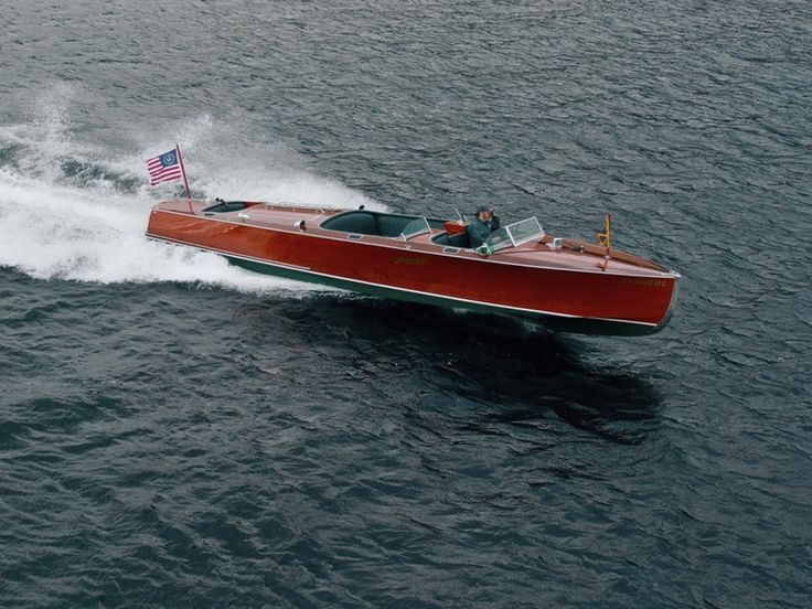 Hacker-Craft Runabout boats range in size from 24 to 35 feet, with twin and triple cockpits, provide a beautifully balanced ensemble of hull and power.