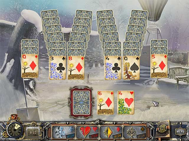Download: https://www.facebook.com/pages/Solitaire-Mystery-2-Four-Seasons-Game/364466190353956 Solitaire Mystery 2: Four Seasons PC Game, Solitaire Games. Lift the time-freezing curse that has fallen over the City of Magic Cards! Time has come to a stand-still for the citizens of the City of Magic Cards.  Solve dozens of unique and exciting solitaire puzzles and lift the curse that's stopped the seasons from changing! Download Solitaire Mystery 2: Four Seasons game for PC for free!