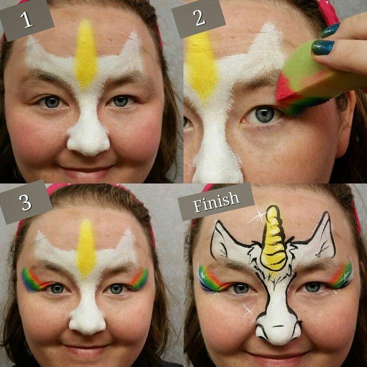 Rainbow Full Face Paint