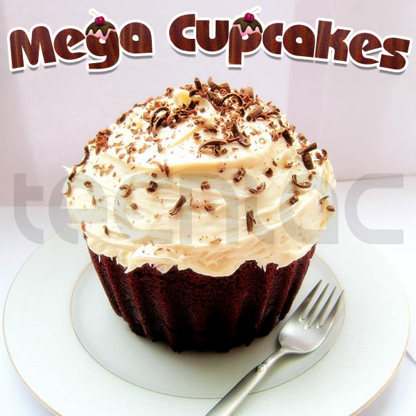 Molde XXL para cupcakes gigantes (25 veces más grandes) - 18€    http://www.tecniac.com/Mega-cupcakes-o-megamagdalenas-25-veces-mas-grandes