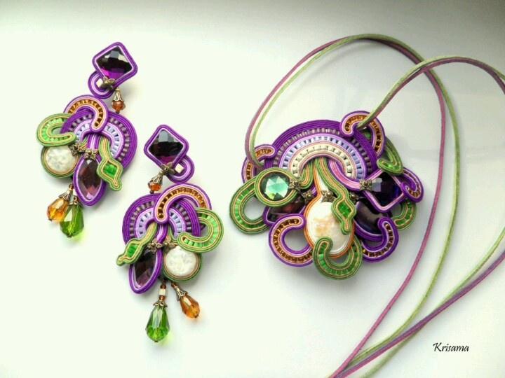 Best soutache images on pinterest jewelry