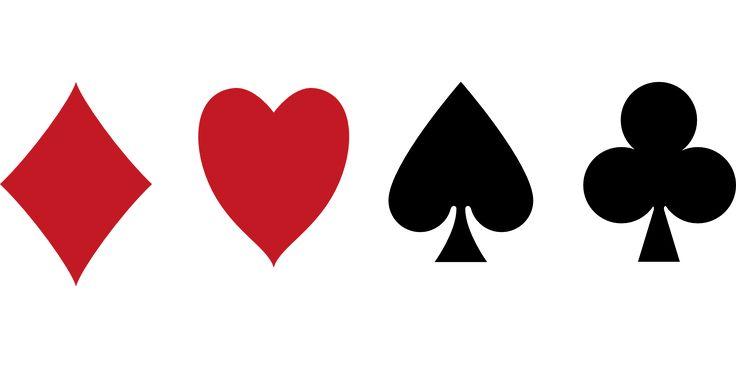Diamonds, Heart, Pik, Cross, Cards, Icons
