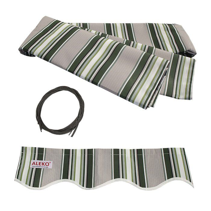 10 Ft W X 8 Ft D Fabric Retractable Standard Patio Awning Patio Awning Fabric Awning Aluminum Awnings