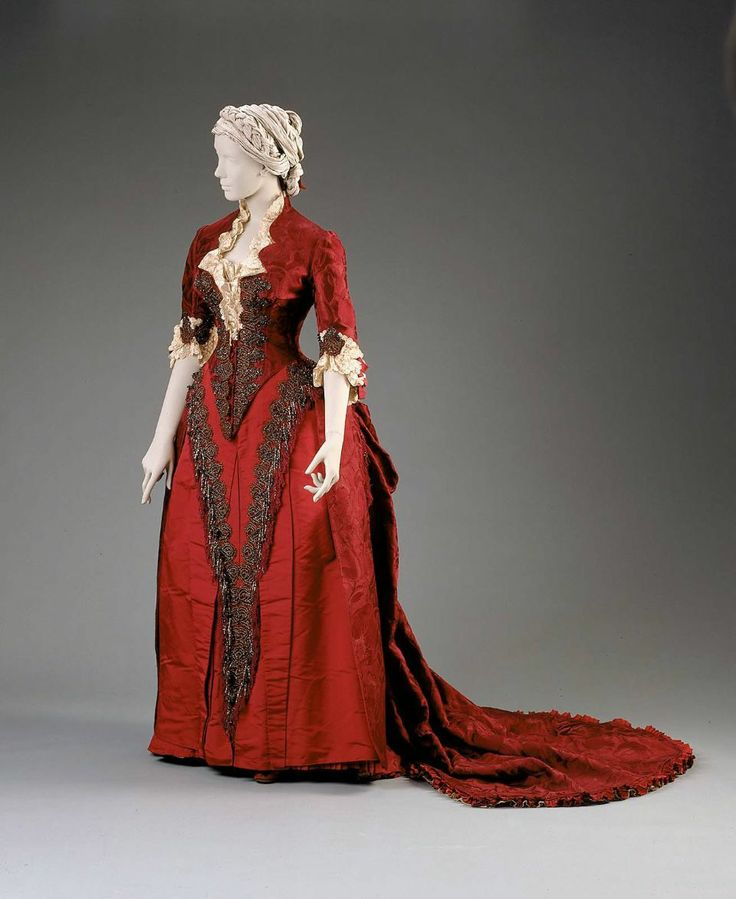 Reception or dinner dress  French (Paris), about 1883  Designed by Charles Frederick Worth, English (active in France), about 1825–1895  For House of Worth,