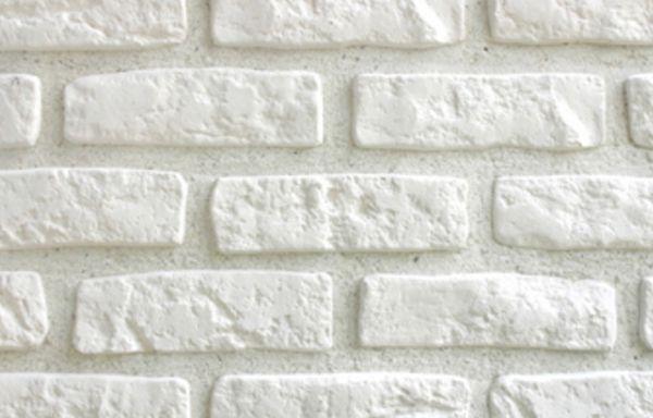Plaqueta decorativa Leroy Merlin efecto ladrillo blanco ref.15639463