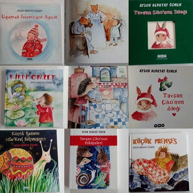 Yapı Kredi Yayınlarından çıkan kitaplarım #çocukkitabı #YKY #childrenbook #uyumakistemeyenayıcık  #tavşançikonunhikayeleri  #tavşançikonundileği🐰 #küçükressamilekralsalyangoz  #kirpiomlet  #küçükprenses  #cocukkitabisevenler