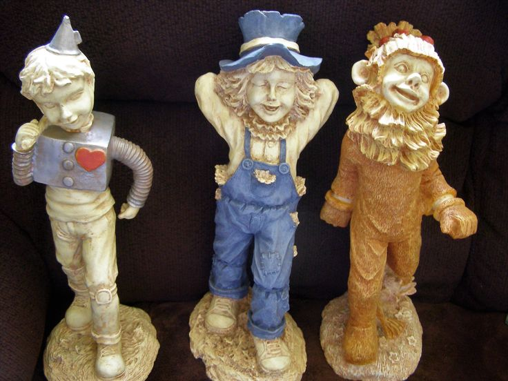 "Rare Resin Wizard of Oz Book / Movie Statues / Figures - Tin Man, Cowardy Lion, Scarecrow (Bert Lahr, Jack Haley, Ray Bolger) 14"" Tall by Something2SingAbout on Etsy"