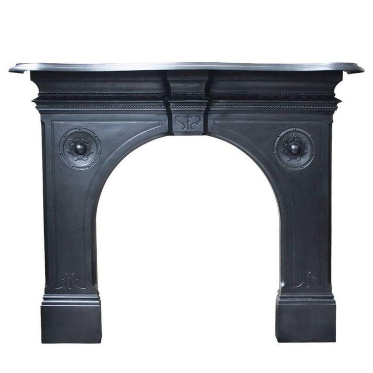 Antique Victorian Cast Iron Fireplace Surround 1