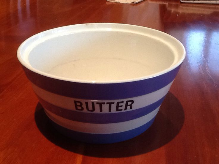 Cornishware butter dish without lid