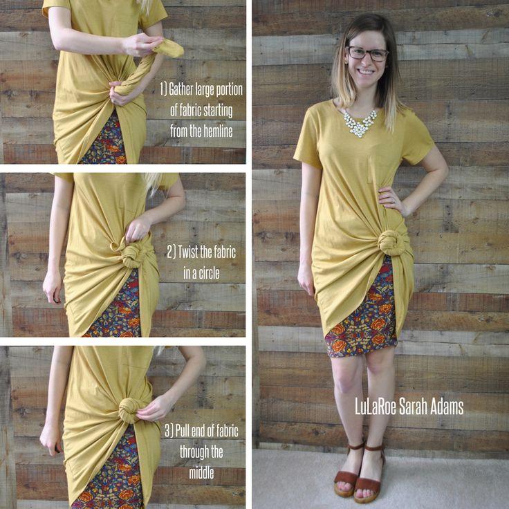 How to Knot the LuLaRoe Carly Dress over the Cassie Skirt | LuLaRoe Sarah Adams